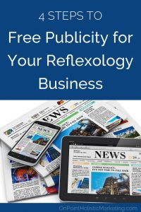 free publicity for your reflexology business