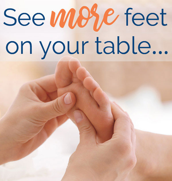 more feet on reflexology table