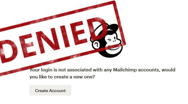 Closed mailchimp account