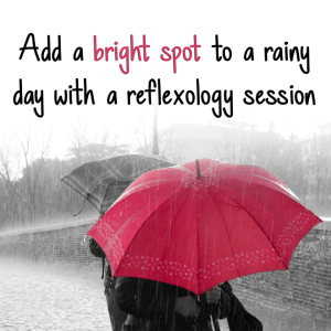 reflexology bright spot on a rainy day