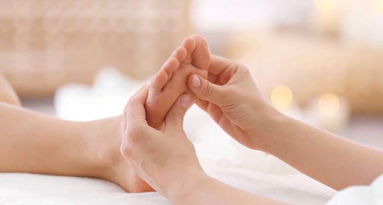 one new reflexology session