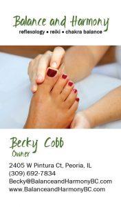 reflexology business card example