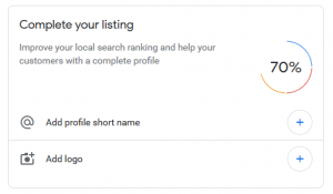 complete your Google My Business listing