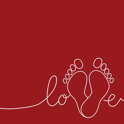 love feet valentines day social graphic