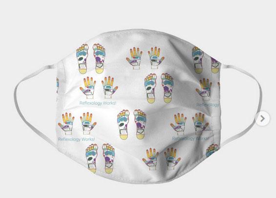 face mask hand feet reflexology maps