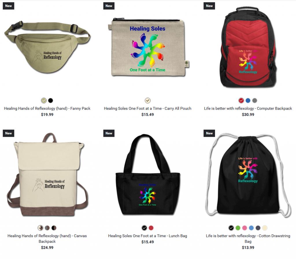 reflexology design bags