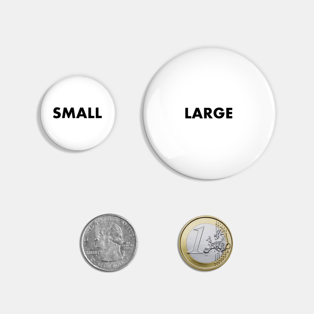 button sizes teepublic