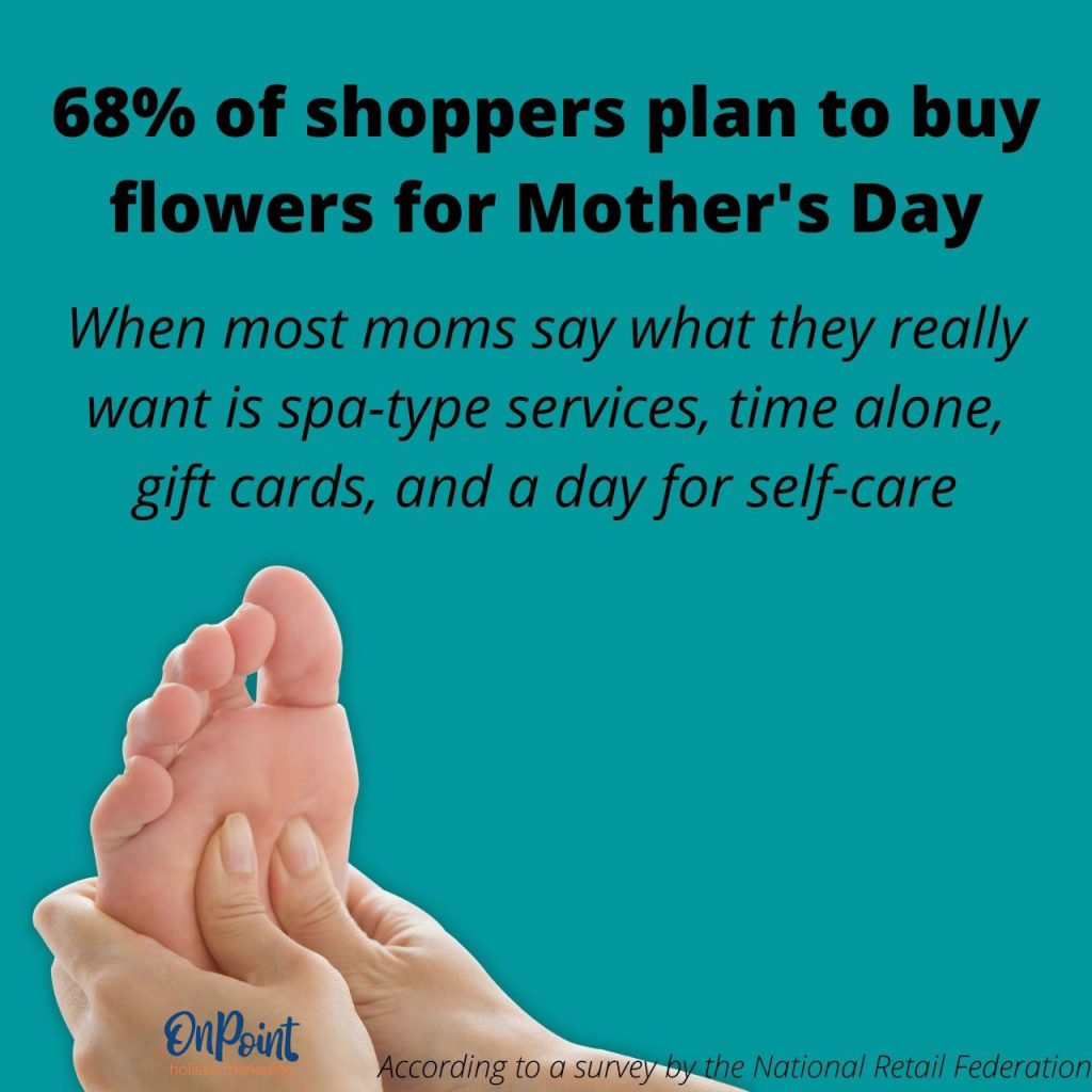shoppers to by moms flowers but that's not what moms want
