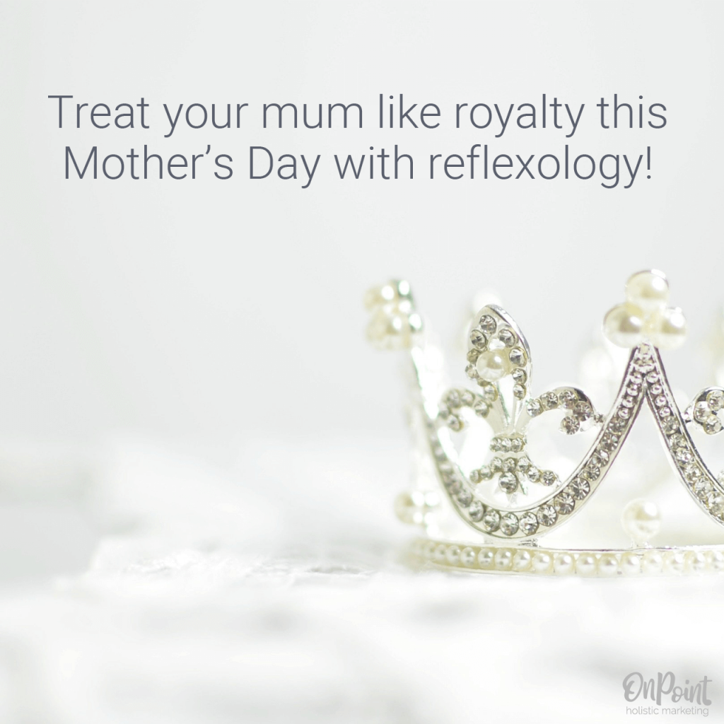 reflexology social media graphic mothers day example